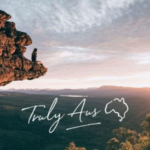 Sitting on a mountain viewing Australia