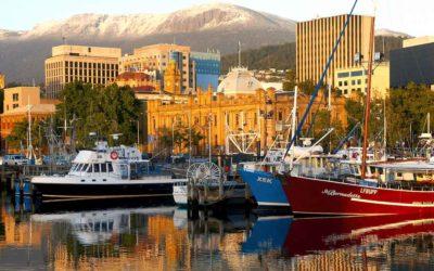 See the monumental change of Hobart, Tasmania